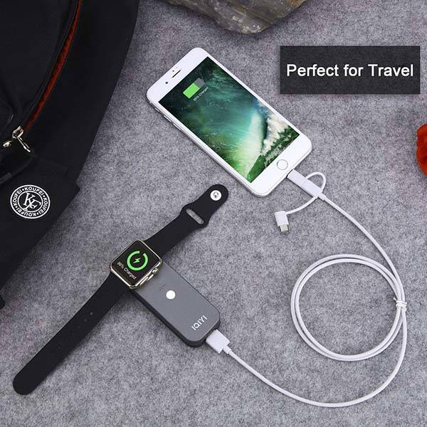 IQIYI Portable Apple Watch Charger and Power Bank