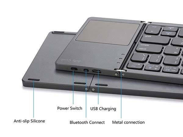 Jelly Comb Foldable Bluetooth Keyboard with Touchpad