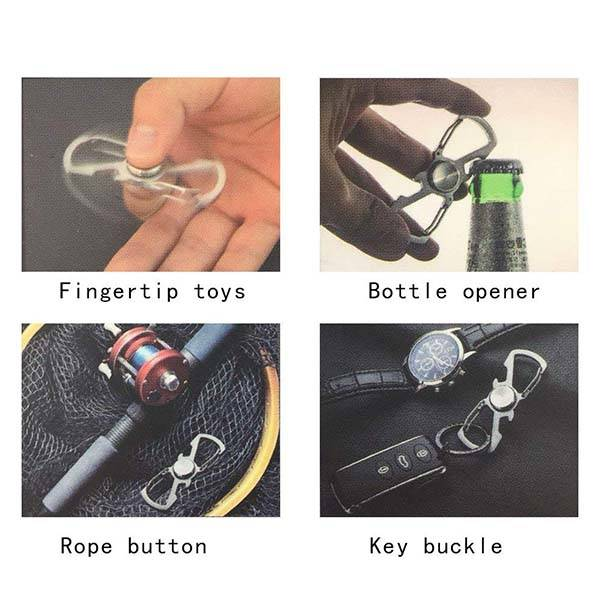 Ontrip 5-In-1 EDC Carabiner with Finger Spinner