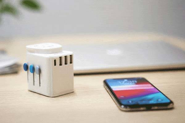 Passport Pro Resettable Grounded Universal Travel Adapter with USB-C PD Fast Charging
