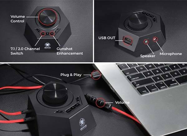 Quake Virtual 7.1 Gaming Earbuds with Vibration