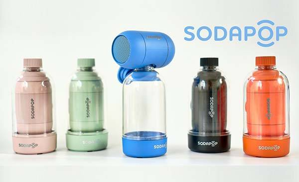 Sodapop Portable Wireless Speaker Works with Any Suitable Plastic Bottle