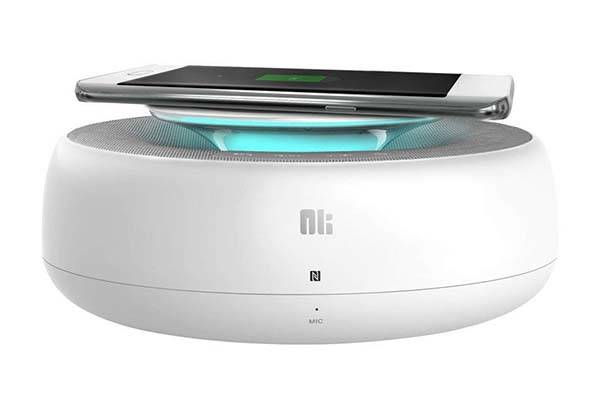 The Compact Bluetooth Speaker with Wireless Charging Pad