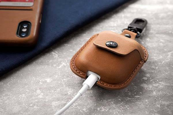Twelve South AirSnap Leather AirPods Carrying Case