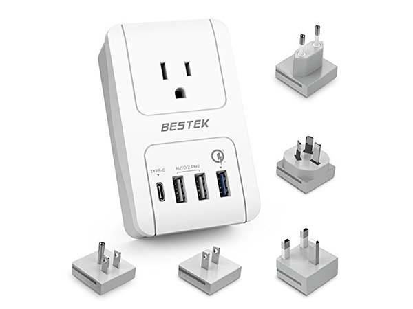 Bestek Travel Adapter with USB Charger