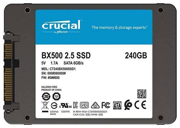Crucial BX500 3D NAND SATA SSD