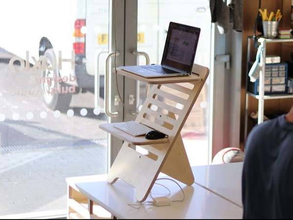 Flexi Station Handmade Wooden Standing Desk