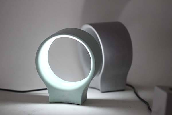 Handmade Concrete LED Bedside Lamp