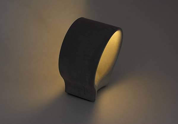 Handmade Concrete LED Bedside Lamp
