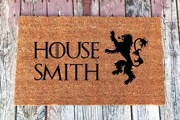 Handmade Customizable Game of Thrones Coir Door Mat