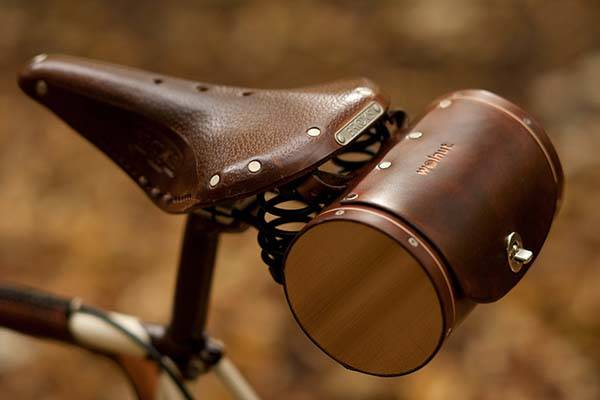 Handmade Customizable Leather Bike Saddle Bag