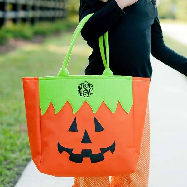 Handmade Customizable Monogrammed Halloween Treat Bag