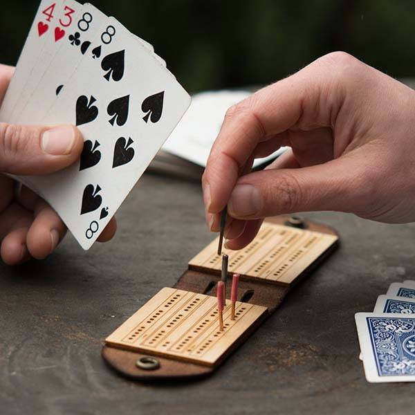 Handmade Customizable Travel Cribbage Board with Pegs