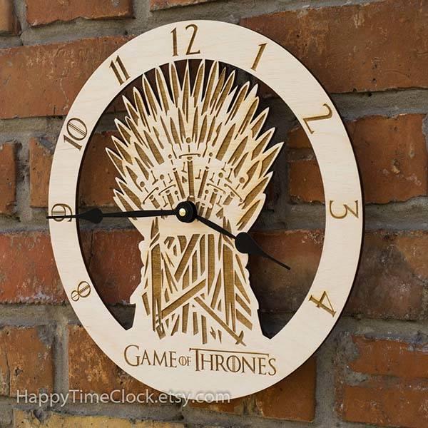 Handmade Game of Thrones Iron Throne Wall Clock