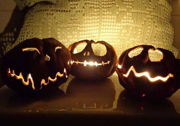 Handmade Spooky Halloween Jack o Lantern