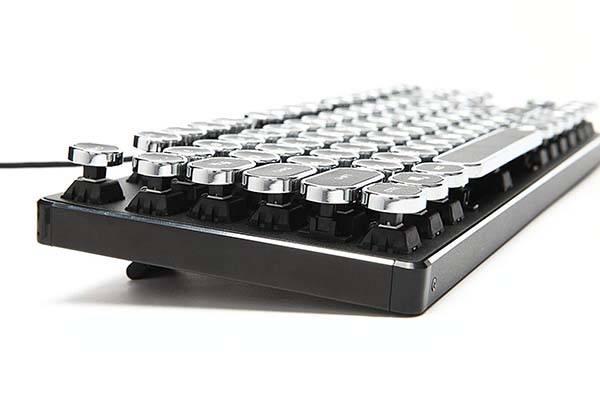 KrBn Typewriter Retro Compact Mechanical Keyboard
