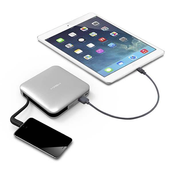 MiPow Power Cube Portable Power Bank with Lightning Cable