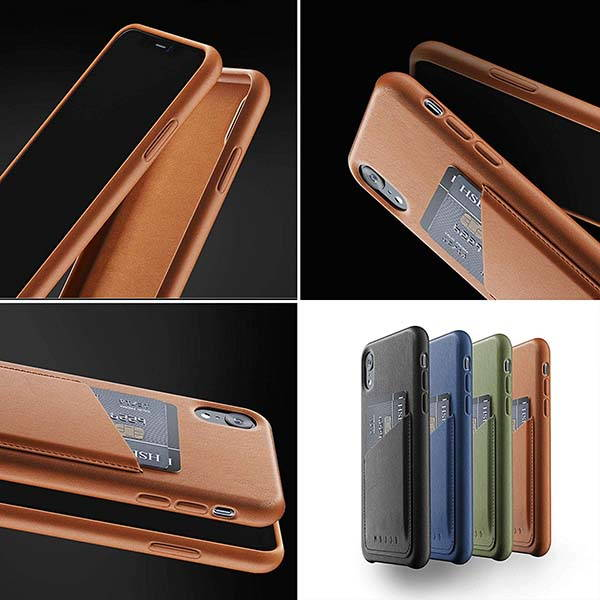 Mujjo Leather iPhone XR Wallet Case