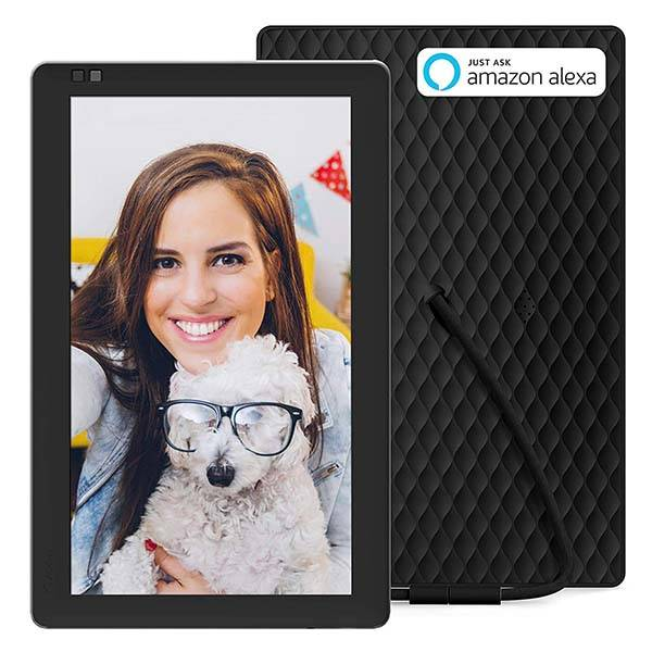 Nixplay Digital Photo Frame Supports Amazon Alexa