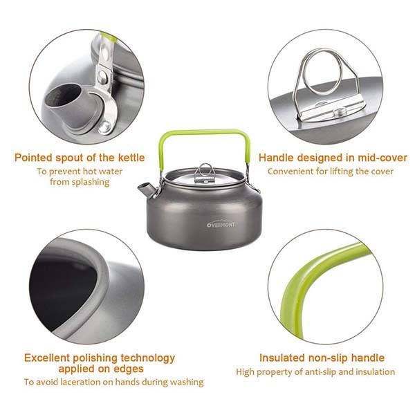 Overmont Portable Camping Kettle
