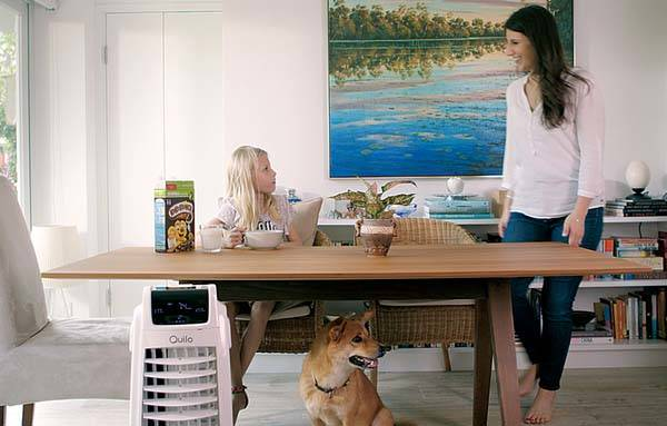 Quilo 2.0 Smart Tower Fan Acts as Evaporative Air Cooler, Air Purifier and Humidifier