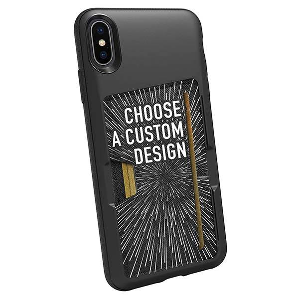 Luxury Armor Slide Brush Case For Apple iPhone X Xs Max Xr Credit Card Holder Phone Case For