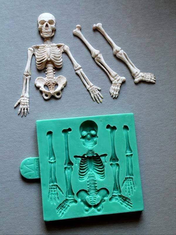 The Skeleton Silicone Mold for Halloween Themed Snacks