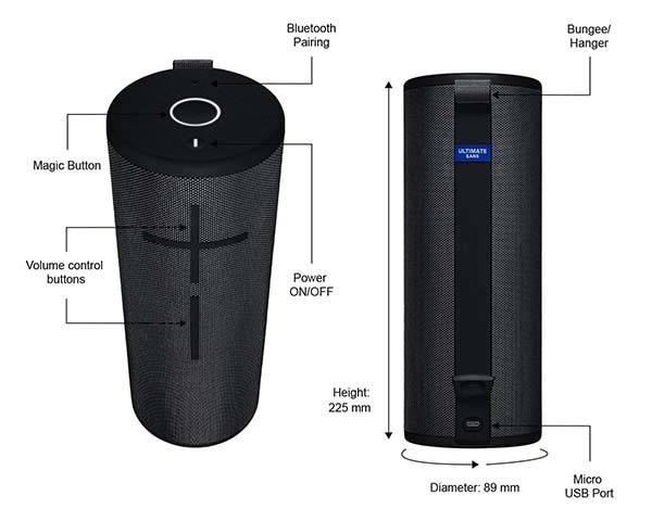 Ultimate Ears MEGABOOM 3 Portable Bluetooth Waterproof Speaker