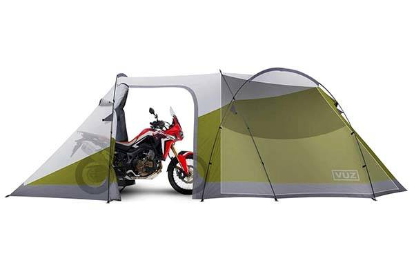 Vuz Moto Waterproof Motorcycle Tent with 3-Person Tent Space