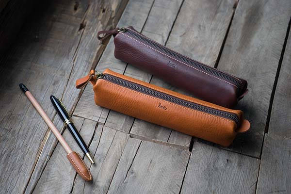 5508 Origami Handmade Leather Pencil Case