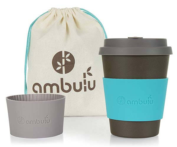 Ambulu Reusable Bamboo Coffee Cup with Lid