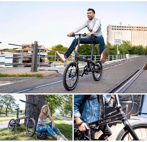 Carbo Lightweight Foldable Electric Bike