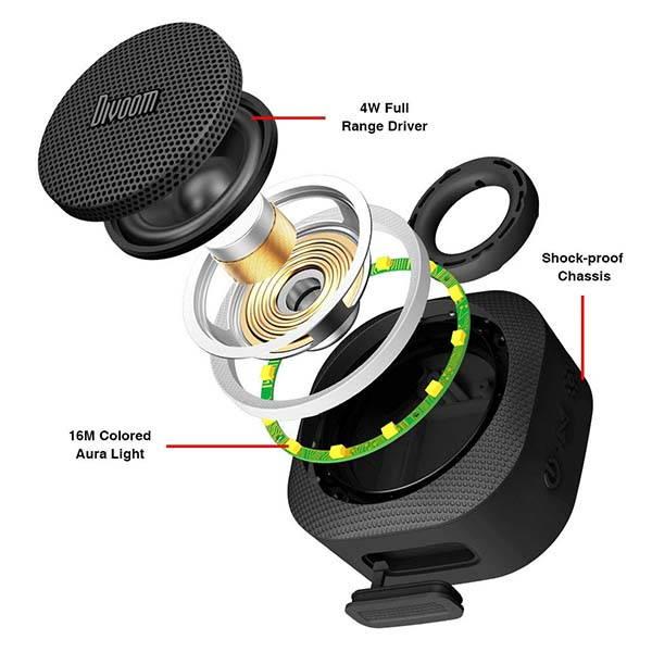 Divoom Airbeat-30 Mini Bluetooth Speaker with RGB Aura Light