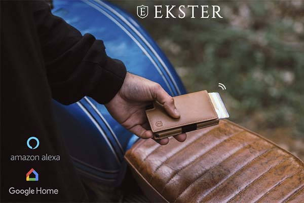 Ekster 3.0 Parliament Leather Slim Wallet with Bluetooth Tracker