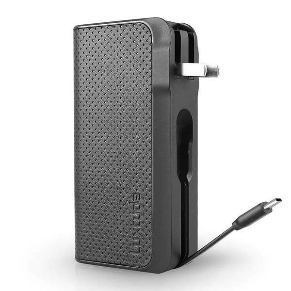 The GlobalTraveler Portable Power Bank with USB Wall Charger and Charging Cable