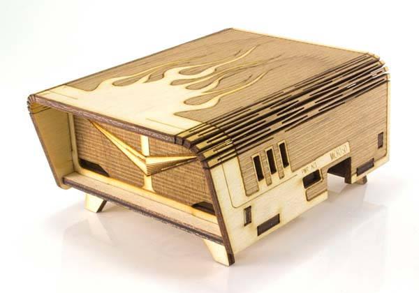 Handmade Bel-Aire Flame Raspberry Pi Case