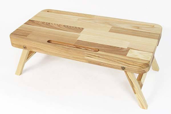 Handmade Foldable Wooden Lap Desk with Custom Grooves