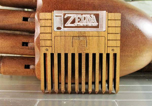 Handmade Legend of Zelda SNES Cartridge Wooden Comb