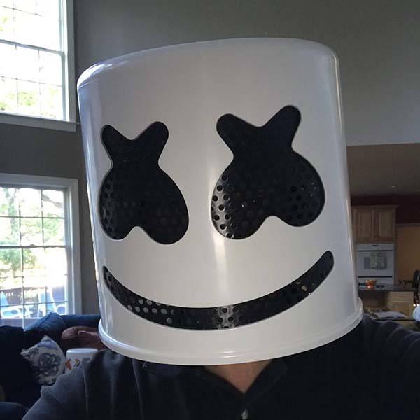 Handmade Marshmello Helmet for Upcoming Halloween Party ...