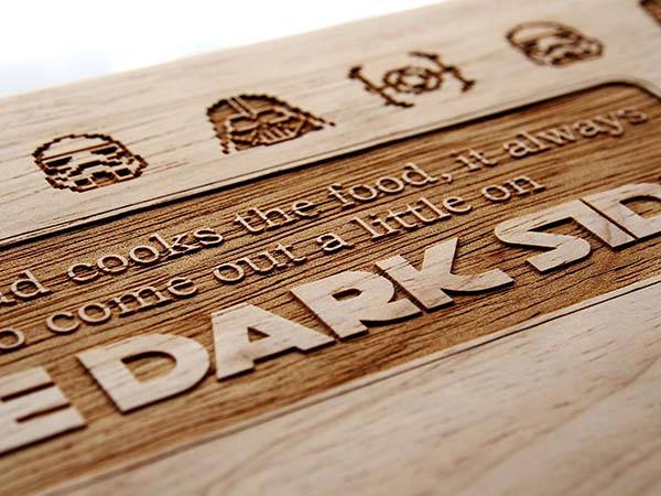 Handmade Personalized Star Wars Cutting Board