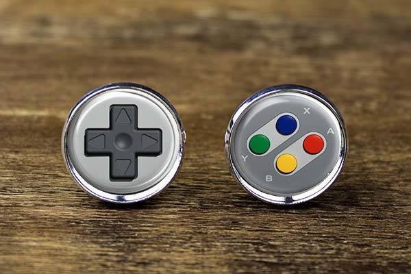 Handmade SNES Controller Inspired Cufflinks