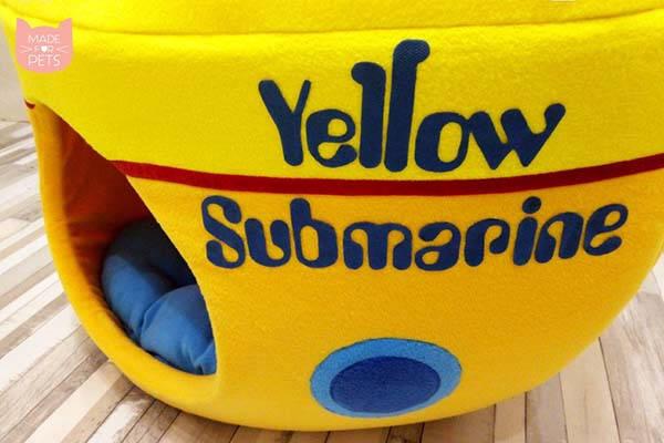 Handmade Yellow Submarine Cat House