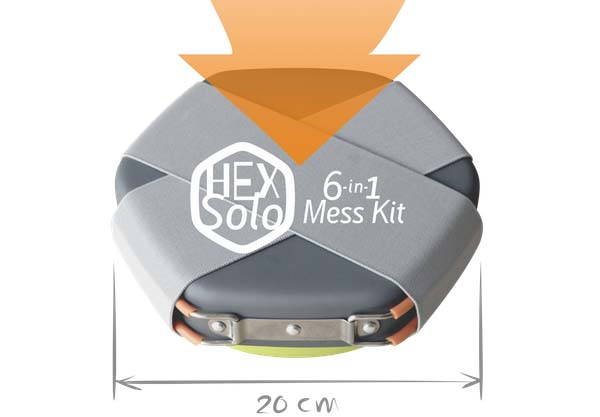 Hex Solo All-In-One Minimal Mess Kit for Outdoor Activities