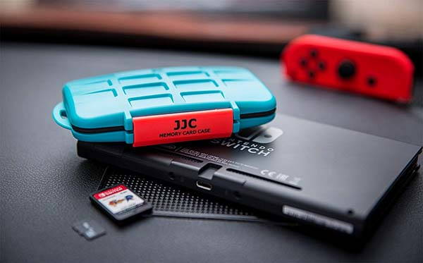 JJC 8+8 Water-Resistant Nintendo Switch Game Card Case