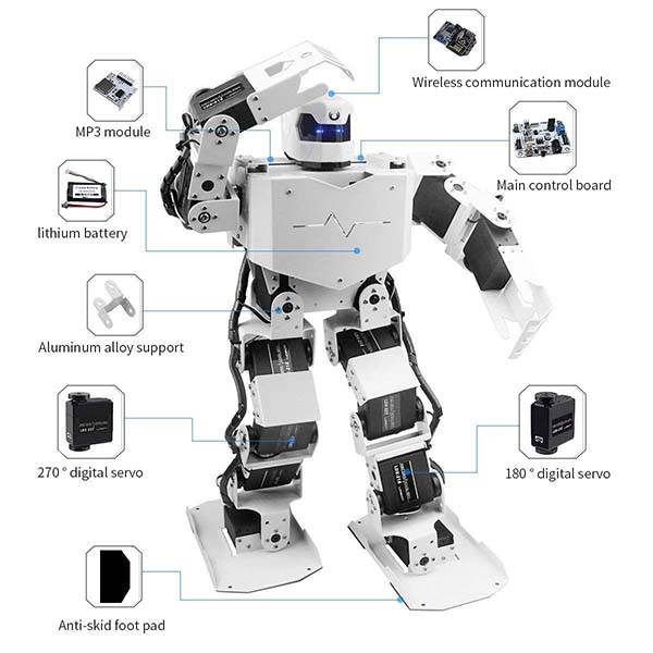 LewanSoul H3S 16DOF Biped Programmable Humanoid Robot