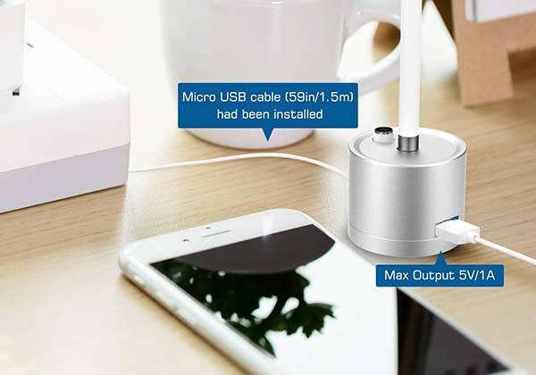 Moko Aluminum Apple Pencil Charging Dock with an Extra USB Port