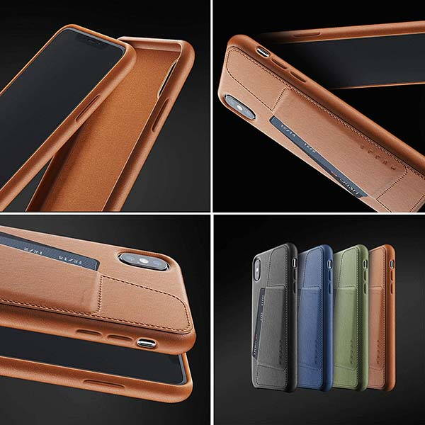Mujjo iPhone XS Max Leather Case with Rear Card Slot