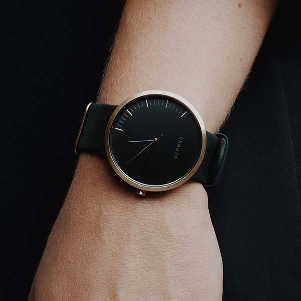 Ormous Meteorite Infused Stainless Steel Minimal Watch Series