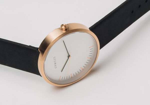 Ormous Meteorite Infused Stainless Steel Minimal Watch Series