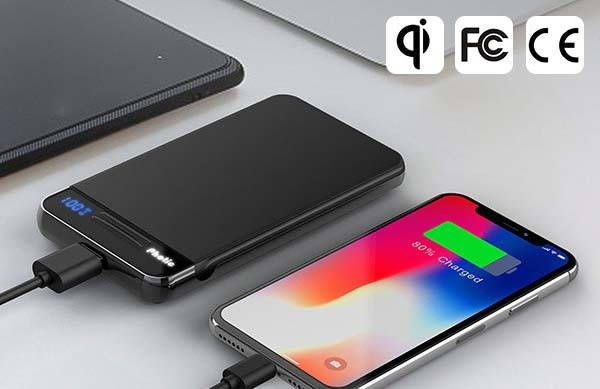 Photic Qi Wireless Power Bank with Foldable Charging Pad
